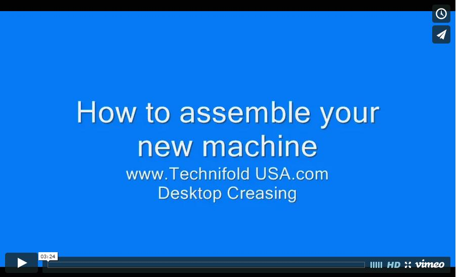 How To Assemble your CreaseStream Mini Video