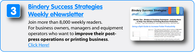 8 Free Resources from Technifold USA - Bindery Success Strategies Weekly eNewsletter