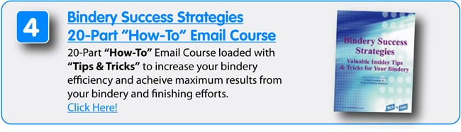 8 Free Resources from Technifold USA - Bindery Success Strategies 20 Part How-To Email Course