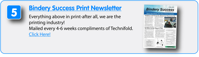 8 Free Resources from Technifold USA - Bindery Success Print Newsletter