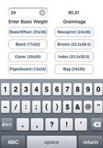 Basis weight app