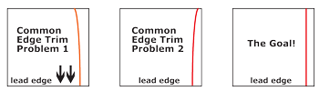 edge trim poor results