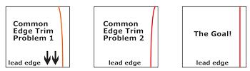edge trim poor results