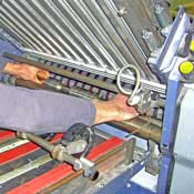 Folding machine rollers