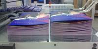 Folding machine flat brochures