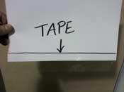 taped sheet