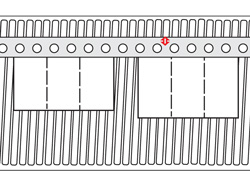 Tandem folding machine register