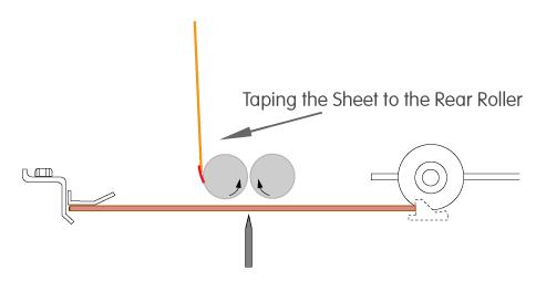 horizon fold roller tape sheet