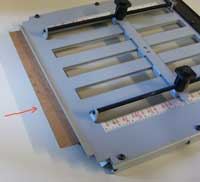 fold plate cardboard insert arrow