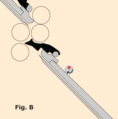 Diagram of locking the fold plate