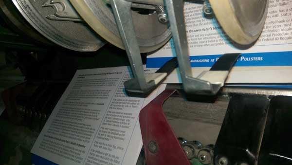 Saddle Stitching Step Books a Gripper Finger Modification on Pocket