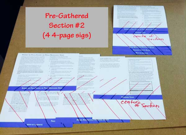 Saddle Stitching Step Books a Pre-Gather 2